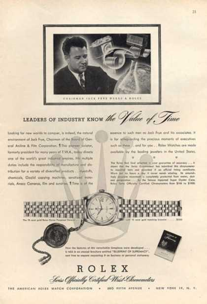 Rolex Oyster Datejust Perpetual Watch (1952)