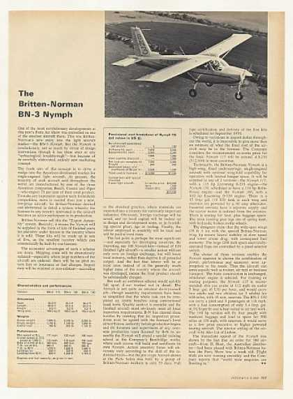 Britten-Norman BN-3 Nymph Airplane Photo Article (1969)