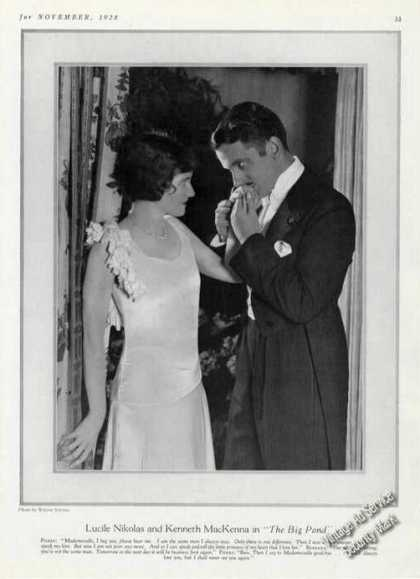 Lucile Nikolas & Kenneth Mackenna Print Photo (1928)