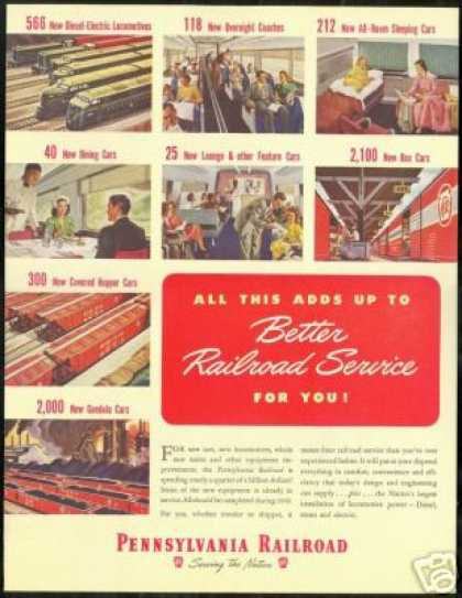Pennsylvania Railroad Train New Purchases (1948)