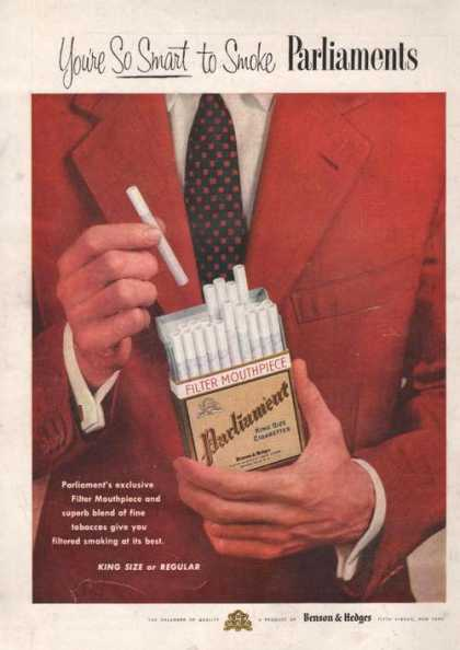 Benson & Hedges Parliament Cigarettes (1955)