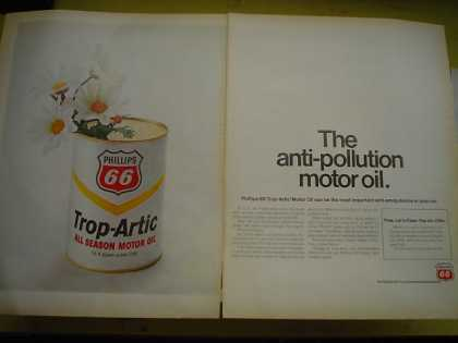 Phillps 66 Motor Oil Trop Artic Anti pollution motor oil (1968)