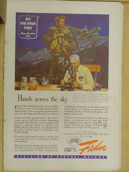 Fisher auto body. Hands across the sky. War theme (1941)