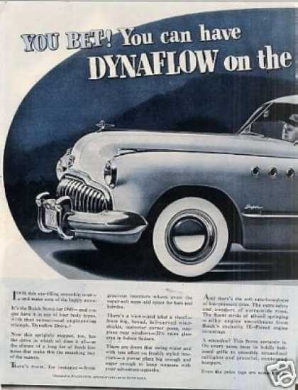 Buick Super Car Ad 2 Page (1949)