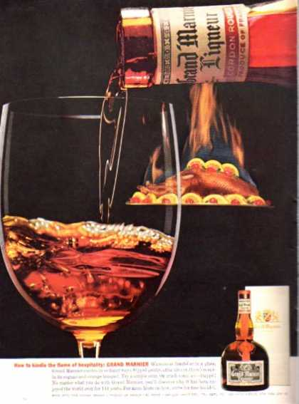 Grand Marnier Liqueur Bottle Glass (1962)