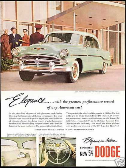 Dodge Royal V8 Sport Coupe Car 3 Views (1954)