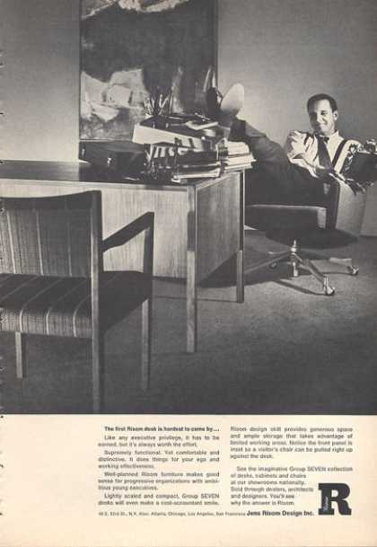 Jens Risom Design Table Chairs Furniture (1966)