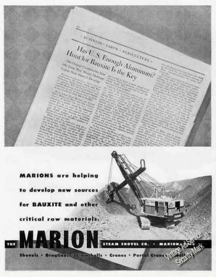 Marion Steam Shovels Marion Oh Photo Wwii (1943)