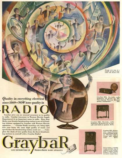 Graybar's Various – Quality in everything electrical since 1869 – NOW tone quality in Radio (1928)