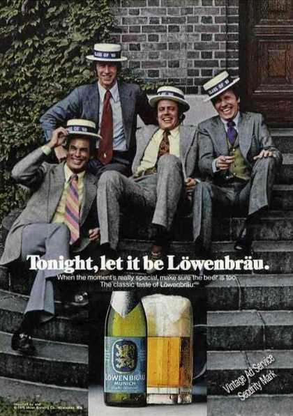 Lowenbrau Beer Class Reunion On Steps (1976)