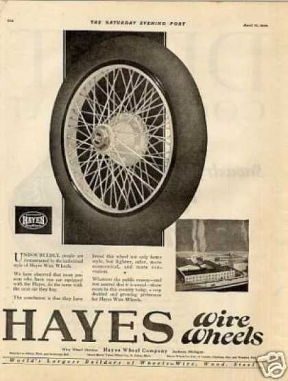 Hayes Wire Wheels (1920)