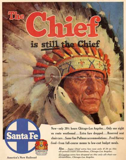 Santa Fe Railway's Santa Fe – The Chief is still the Chief (1954)