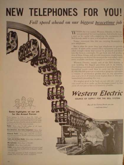 Western Electric New Telephones for you (1945)