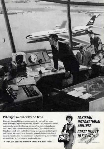 Pakistan International Airlines 88% On Time (1966)