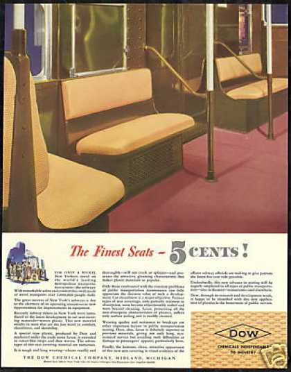 New York Subway Dow Saran Seat Covers (1940)