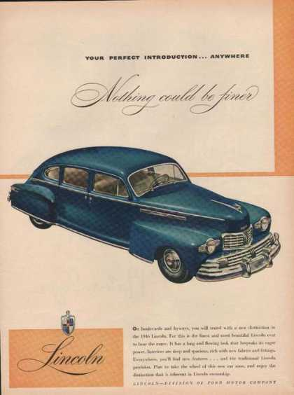 Blue Lincoln Car Ford Motor Company (1946)