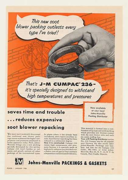 Johns-Manville Cumpac 236 Asbestos Yarn Packing (1956)