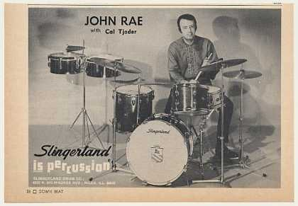 John Rae Slingerland Drums Photo (1968)
