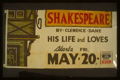 "Hollywood Playhouse [presents] ""Will Shakespeare"" by Clemence Dane – His life and loves. (1938)"