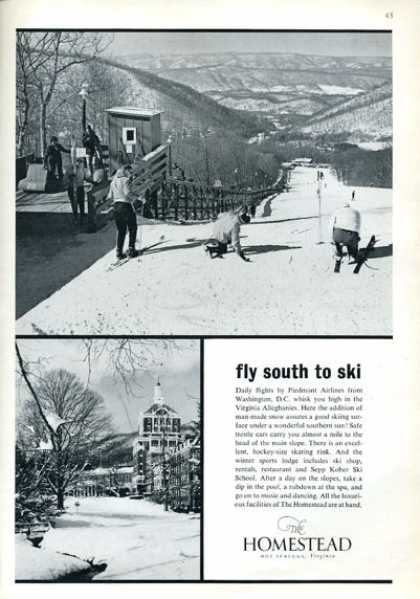 Homestead Virgina Hot Springs Snow Ski Lift (1964)