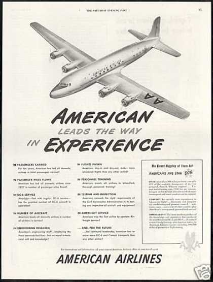 American Airlines Experiences DC-6 DC6 Vintage (1947)