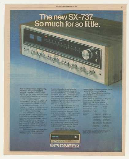 Pioneer SX-737 Stereo Receiver (1976)