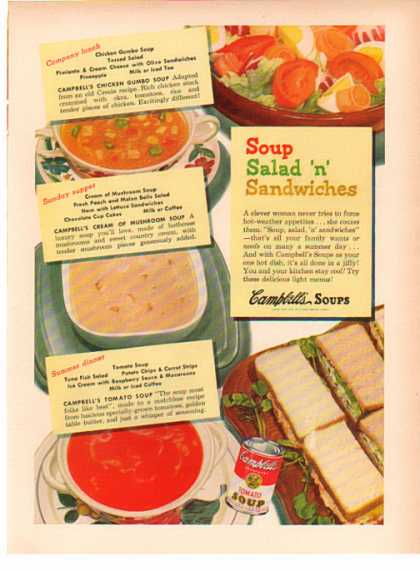 Campbell's Soup – Soup Salad 'n' Sandwiches (1949)
