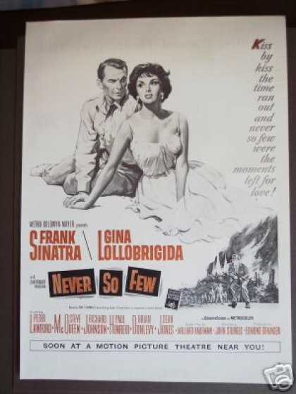 Sinatra Gina Lollobrigida Never So Few Movie (1959)