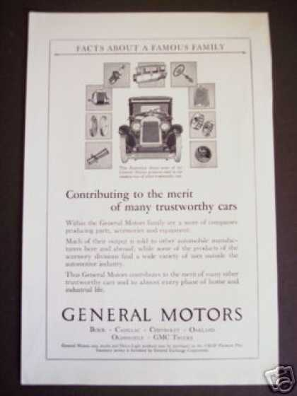 Original General Motors Gm Antique Car Parts (1925)
