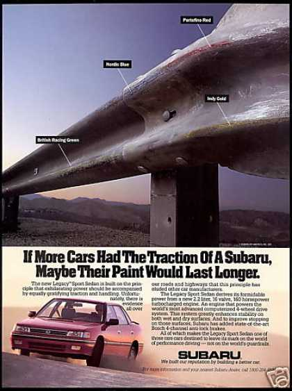 Subaru Legacy Sport Sedan Car Guard Rail (1991)