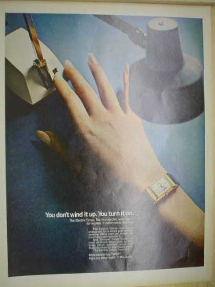 Electric Timex Watch You don't wind it up, you turn it on (1968)