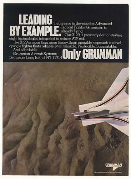 Grumman X-29 Fighter Aircraft (1986)