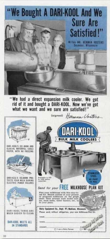 Dari-kool Bulk Milk Coolers Madison Wi Rare (1958)
