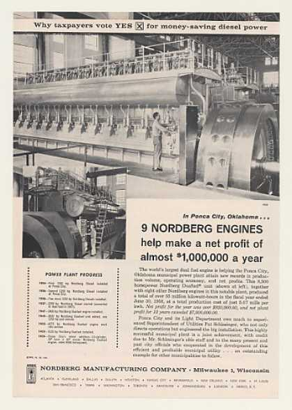 Ponca City OK Power Plant Nordberg Engine (1960)
