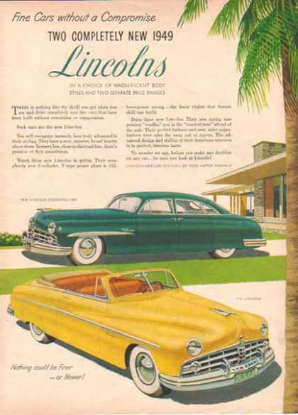Lincoln Convertible and Cosmopolitan Car – Yellow (1949)