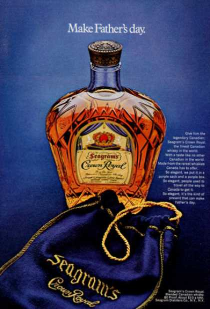 Seagram's Crown Royal Bottle (1971)