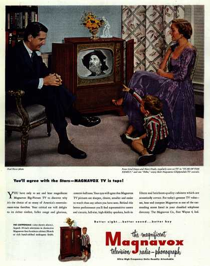 Magnavox Company's Television – You'll agree with the Stars – Magnavox TV is tops (1951)