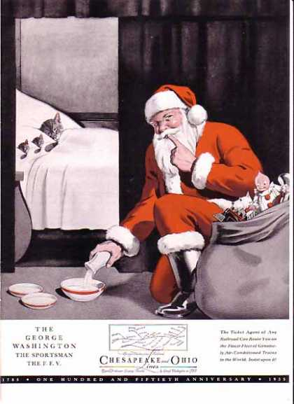 Chesapeake and Ohio Railroad Christmas – Sold (1935)