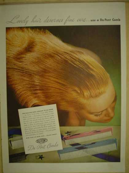Dupont Comb. Lovely hair deserves fine care. (1946)