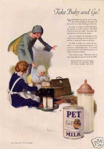 Pet Milk Ad Andrew Loomis Art (1924)
