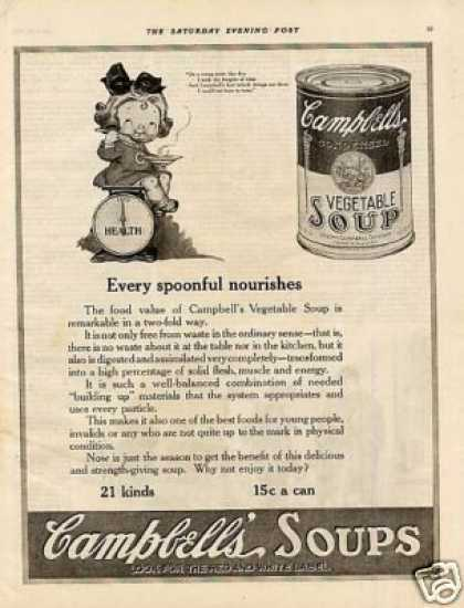 "Campbell's Soup Ad ""Every Spoonful Nourishes... (1920)"