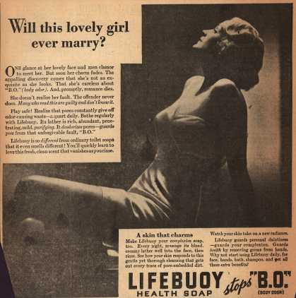 Lever Brothers Company's Lifebuoy Health Soap – Will this lovely girl ever marry? (1934)