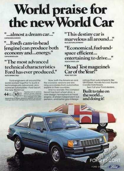 "Ford Escort ""World Praise for New World Car"" (1981)"