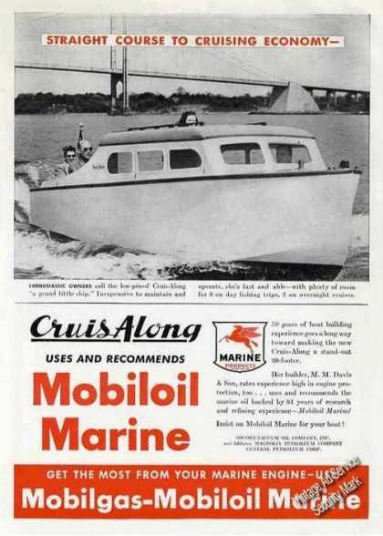 Cruis-along Boat Photo Mobiloil Marine (1947)