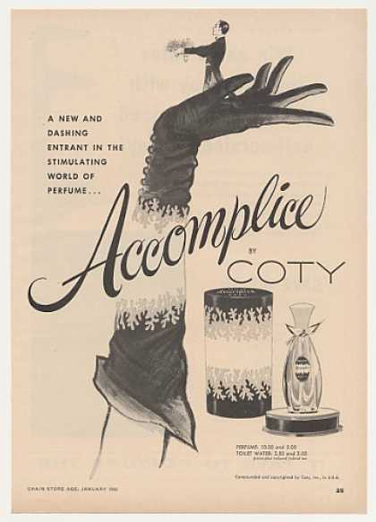 Accomplice by Coty Perfume Vintage (1955)