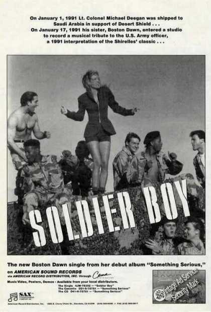 "Boston Dawn Photo ""Soldier Boy"" Music Photo (1991)"