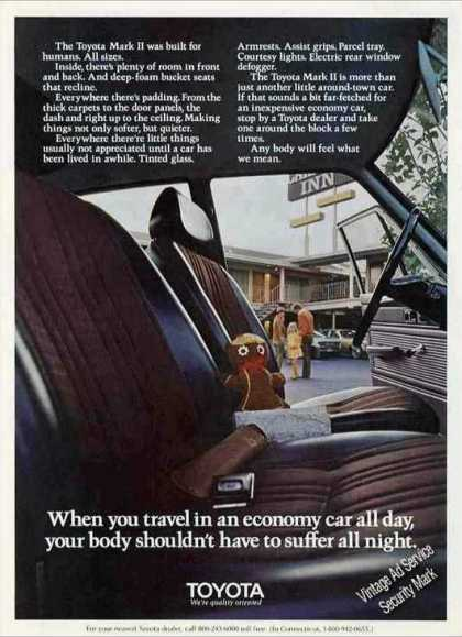"Toyota Mark Ii Interior ""Built for Humans"" (1972)"