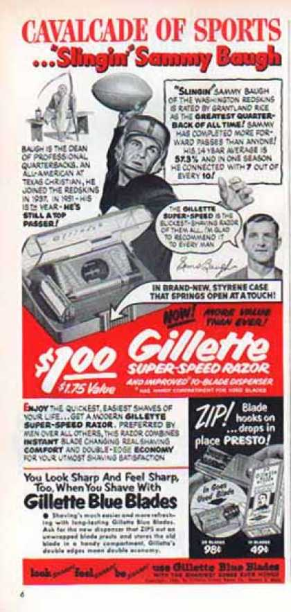 Gillette – Cavalcade of Sports – Sammy Baugh – Sold (1951)