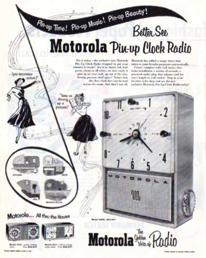 Motorola Pin Up Portable Radio Model 52cw (1953)