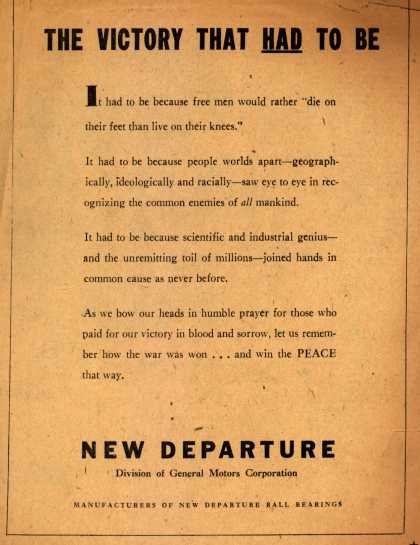 General Motors Corp.'s Post-War – The Victory That Had To Be (1945)